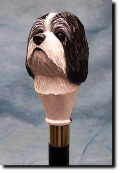 Havanese Dog Head Cast Resin Hiking Staff