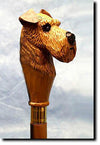 Irish Terrier Hand Crafted Dog Cane Stick