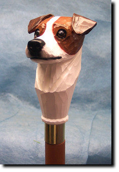 Jack Russell Dog Birch Wood Walking Cane Stick