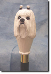Maltese Dog Walking Stick