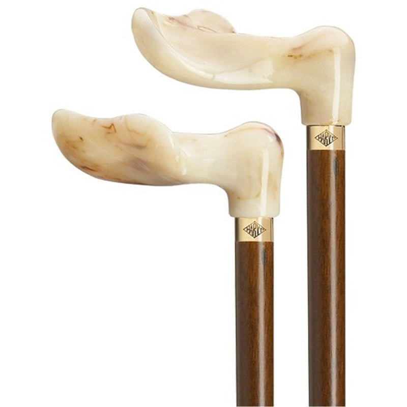 Marbleized Palm Grip Tall Cane Left Hand
