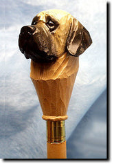 Mastiff Dog Walking Stick