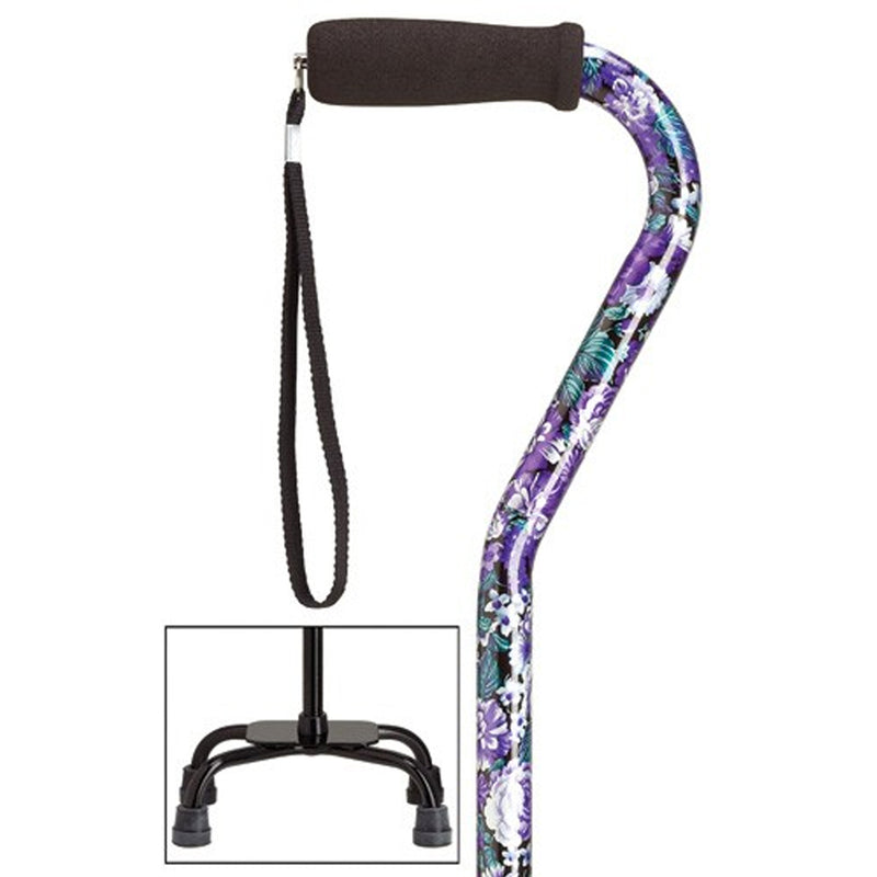 Sturdy Safety Purple Large Quad Base Walking Cane
