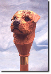 Norfolk Terrier Dog Walking Stick
