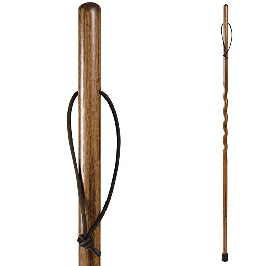 Oak Trekker Hiking Stick in Brown Stain