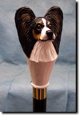Papillon Dog Walking Stick