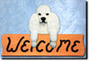 Poodle Dog Wood Welcome Sign
