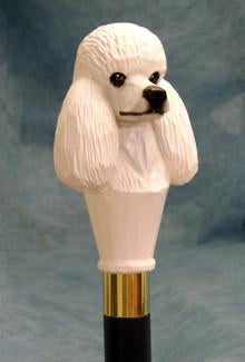 Silver Poodle Wood Hand-Painted Walking Stick (no picture available)