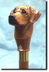 Rhodesian Ridgeback Dog Hand-painted Hiking Staff