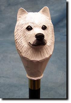 Samoyed Dog Hand-painted Hiking Staff