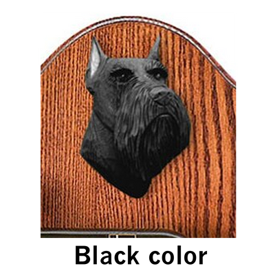 Schnauzer Miniature Dog Black Color Welcome Sign