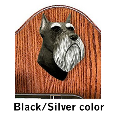 Schnauzer Miniature Dog Black Silver Color Welcome Sign