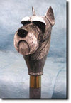 Schnauzer Miniature Dog Hand-painted Hiking Staff