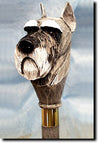 Schnauzer Standard Wooden Walking Cane Stick