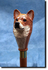 Shiba Inu Dog Walking Stick