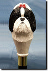 Shih Tzu Dog Hand-painted Walking Cane Stick