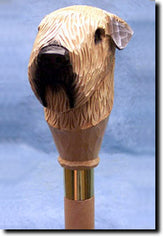 Soft Coated Wheaten Terrier Dog Walking Stick