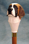 St. Bernard Dog Hand-painted Walking Cane Stick