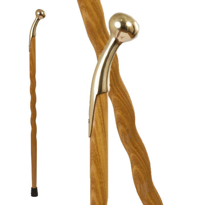 Solid Wood Oak Hame Knob Walking Cane
