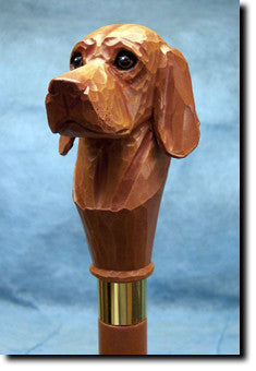 Vizsla Dog Hand-painted Walking Cane Stick