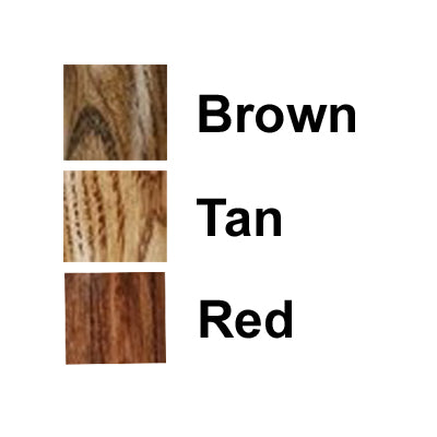 Best Oak Crook Cane 3 Stain Colors Brown Red Tan