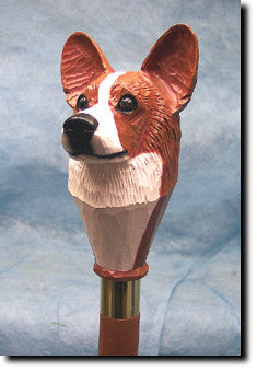 Welsh Corgi Dog Hand-painted Walking Cane Stick