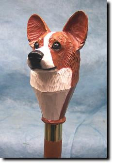 Welsh Corgi Pembroke Dog Hand-painted Hiking Staff