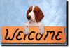 Welsh Springer Spaniel Wood Welcome Sign