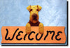 Welsh Terrier Wood Welcome Sign