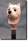 West Highland Terrier Dog Hand-painted Hiking Staff