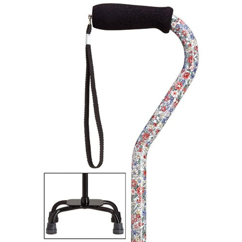 Wild Flowers Fashion Quad Large Base Cane