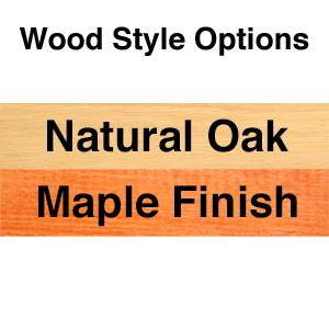 Natural Oak or Maple Wood Finish Dog Sign