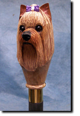 Yorkshire Terrier Dog Walking Stick