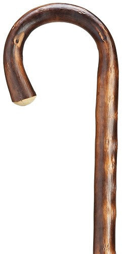 Extra Long Crook Handle Natural Bark Finish Cane