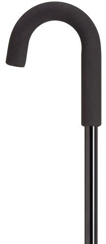 Womens Hypalon Crook in Solid Black Cane