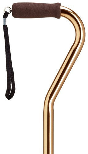 Mens Offset in Solids Bronze Cane