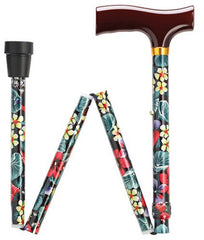 Fashionable Folding Imprints Night Flowers Cane