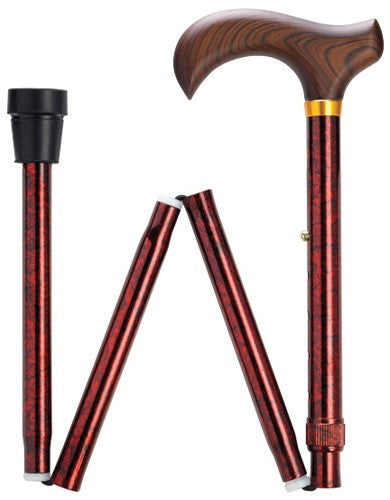 Granite Series Folding Red Cane