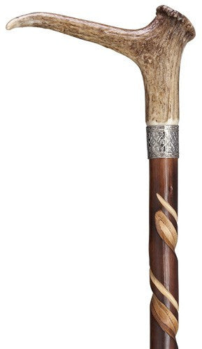 Spiral Stag Horn Cane