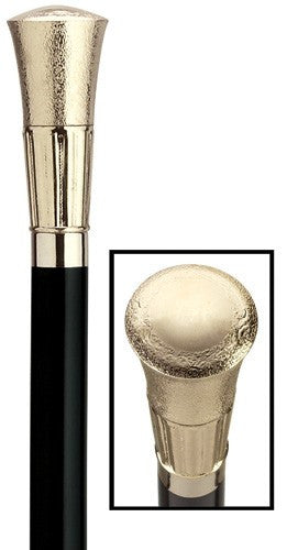 Mens Formal Embossed Cap Gold Cane