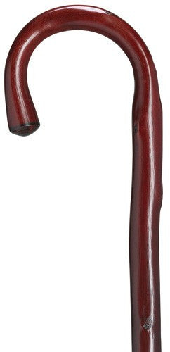 Burgundy Crook Handled Cane