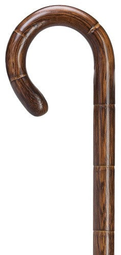 Extra Long Crook Handle Cane Genuine Oak