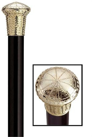 Formal Gold Tone Cap Cane