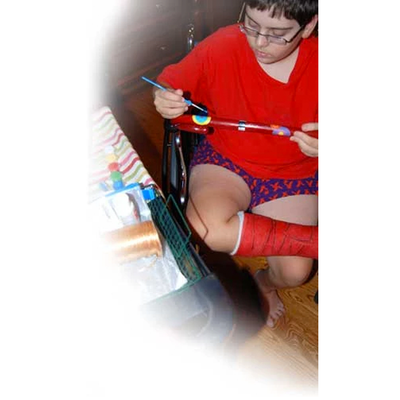 Paint A Cane Kit In Use