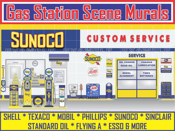 GAS STATION SCENES WALL MURALS