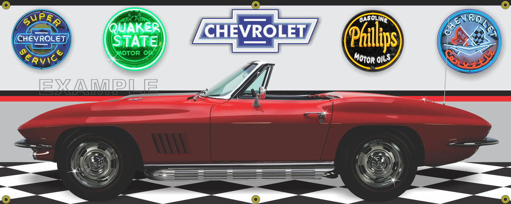 1967 CHEVROLET CORVETTE STING RAY CONVERTIBLE RALLY RED ...