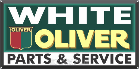 WHITE OLIVER TRACTORS SALES DEALER OLD SIGN REMAKE ALUMINUM CLAD SIGN VARIOUS SIZES