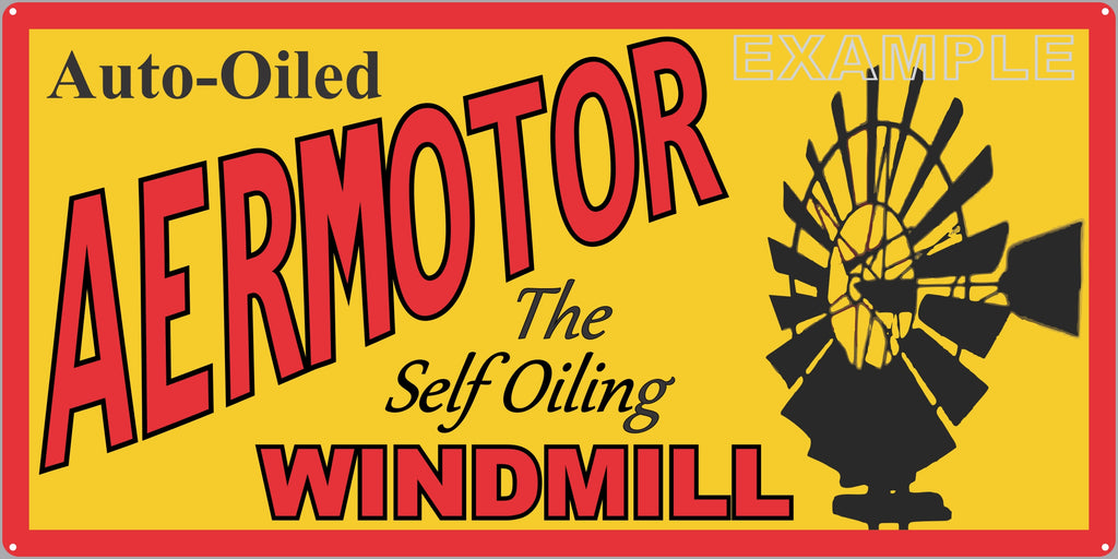AERMOTOR WINDMILLS FARM RANCH DEALER OLD SIGN REMAKE ALUMINUM CLAD SIGN VARIOUS SIZES