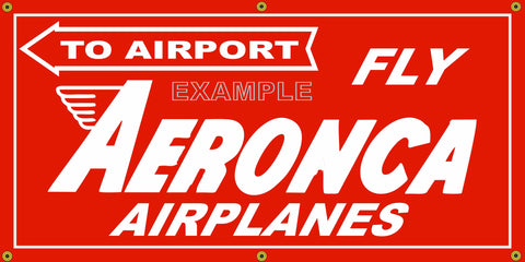 AERONCA AIRPLANES AIRCRAFT VINTAGE OLD SCHOOL SIGN REMAKE BANNER SIGN ART MURAL 2' X 4'/3' X 6'