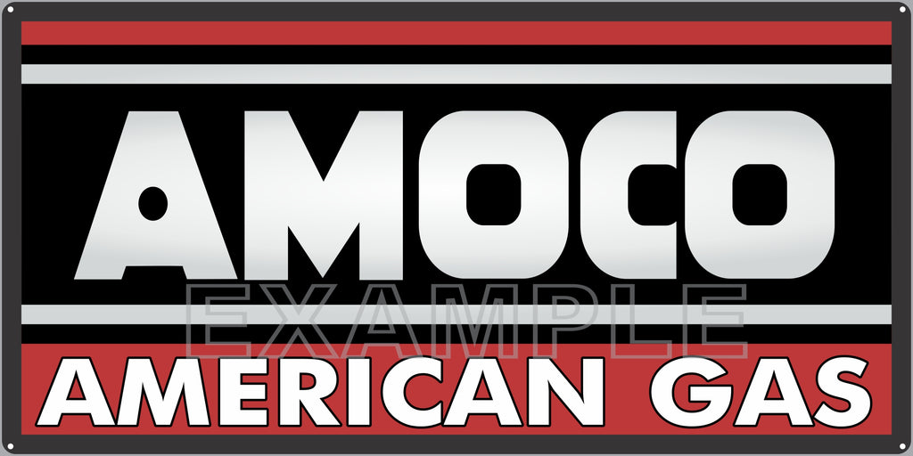 AMOCO AMERICAN GAS STATION SERVICE GASOLINE OLD SIGN REMAKE ALUMINUM CLAD SIGN VARIOUS SIZES
